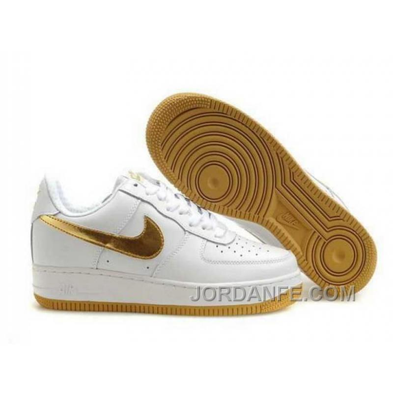 Nike Air Force 1 Low Mens Gold White Black Friday Deals ...