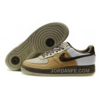 Nike Air Force 1 Low Mens Gold White Free Shipping