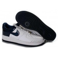 Nike Air Force 1 Low Mens Navy White Authentic