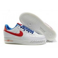 Nike Air Force 1 Low Mens Red White Lastest 214812