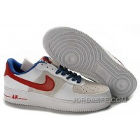 Nike Air Force 1 Low Mens White Red Super Deals