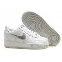 Nike Air Force 1 Low Mens White Silver Hot