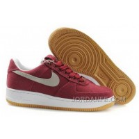 Nike Air Force 1 Low Mens Wine Red Super Deals