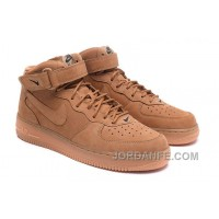 Nike Air Force 1 Mid FLAX 715889-200 Mens 2016 Online