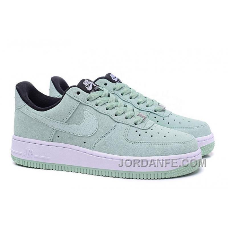 Nike Air Force 1 Low Mint Low Sneaker Chamois Leather Crocodile Pattern  Super Deals