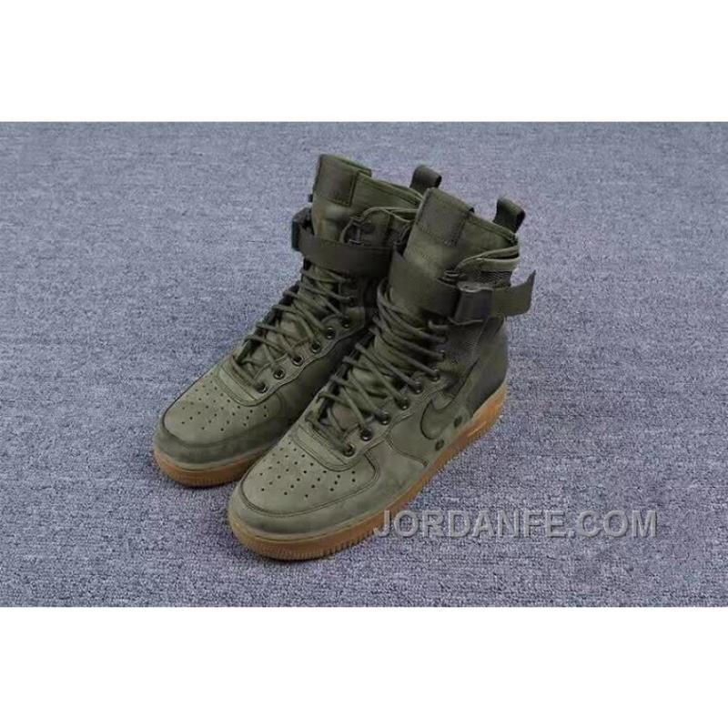 quality design af691 37d12 ... Nike Special Forces Air Force 1 Boots Faded Olive Faded 859202-339  Olive Green ...