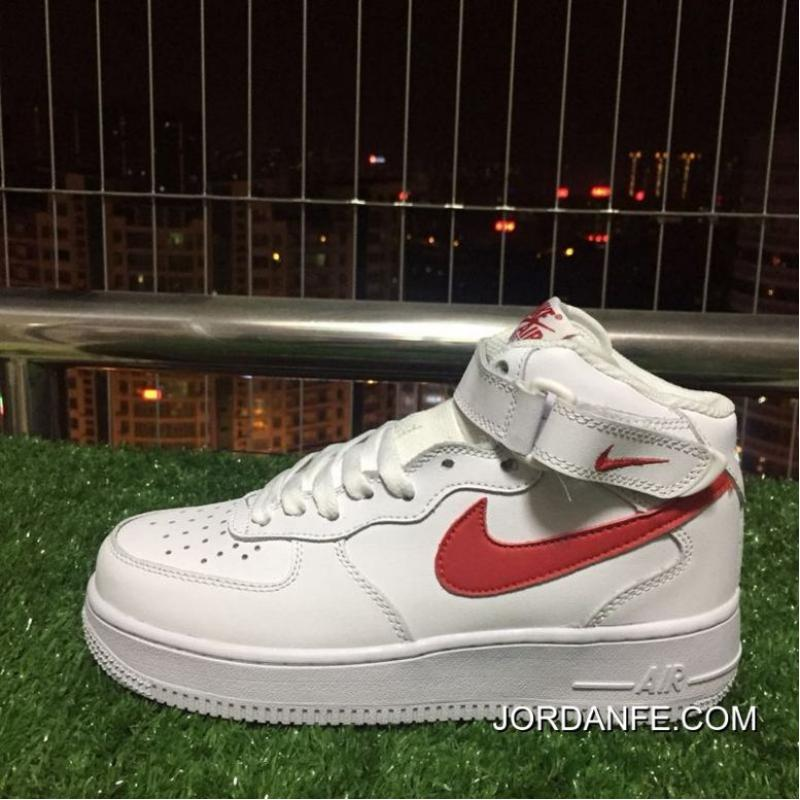 timeless design fb9d4 3cdd5 315123-126 2018 · Nike Air Force 1 Af1 Mid 07 One White Top Sneakers.