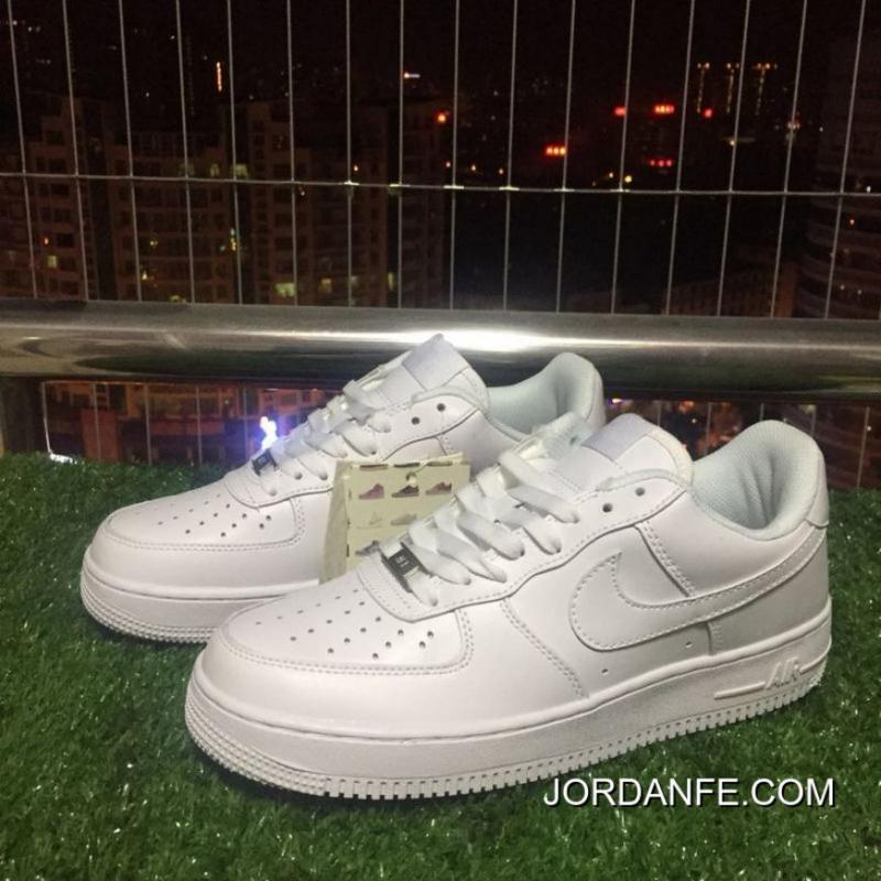 6b3c38ad1 ... 2018 Copuon Nike Air Af1 Force One All White Pure White Low Sneakers  315115 112 ...