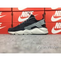 Nike Air Huarache Four 4 Generation Texture Pig Leather Series Ultra Id Custom-Made Designs Of Navy Blue Ash 829669-667 2018 Online