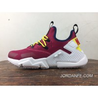 Free Combination Nike Air Huarache Six S Of 6 Drift Wine Red And White Removable Strap Design 2018 Cheap To Buy