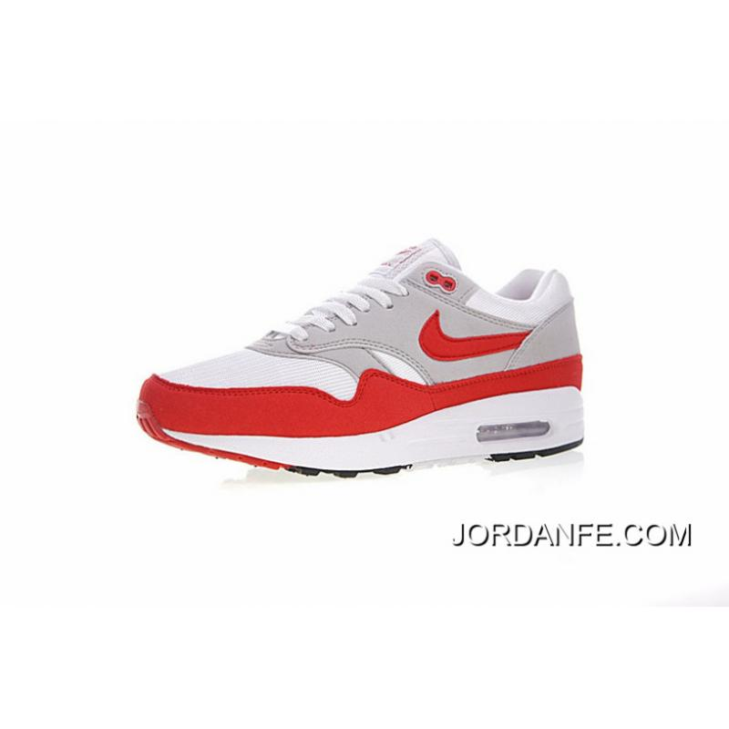 sélection premium 33940 75598 30 Th Anniversary Limited Version Nike Air Max 1 Anniversary OG Retro Zoom  All-match Jogging Shoes Campus White Red 908375 103 2018 Top Deals