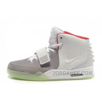 Nike Air Yeezy 2 Wolf Grey/Pure Platinum Glow In The Dark For Sale Free Shipping