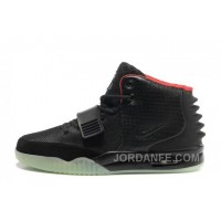 Nike Air Yeezy 2 Black/Solar Red Glow In The Dark For Sale Free Shipping