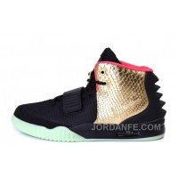 "Nike Air Yeezy 2 ""Imperial"" Black Gold Glow In The Dark For Sale New Arrival"