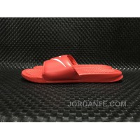 NIKE Benassi Swoosh GD 312618-066 Red Men Slides Authentic