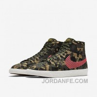 NIKE BLAZER MID JACQUARD 2017 Spring New 807382-201 Women Black Red Cheap To Buy