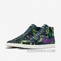 NIKE BLAZER MID JACQUARD 2017 Spring New 807382-200 Women Black Purple Cheap To Buy