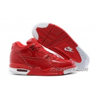 Nike Air Flight '89 Red Leather Basketball Shoes For Sale Online