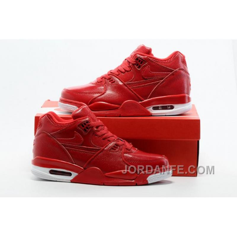 Nike Air Flight  89 Red Leather Basketball Shoes For Sale Online ... 009c4dcefe28
