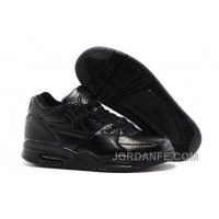 Nike Air Flight '89 All Black Leather Basketball Shoes For Sale Hot