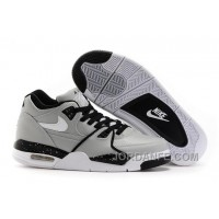 Nike Air Flight '89 Wolf Grey/Black-White Shoes For Sale Top