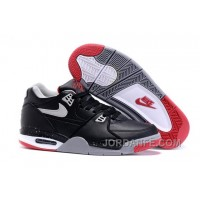 """Nike Air Flight '89 """"Bred"""" Black/Cement Grey-Fire Red-White Shoes For Sale Top"""