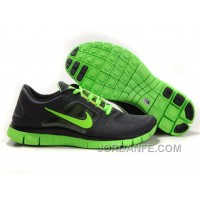 Nike Free 5.0 V4 Running Shoes Black Green Authentic