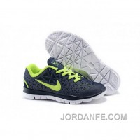 Nike Free TR Fit Kid Navy Green Shoes Discount