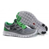 Nike Free Run 2 Men Light Grey Green White Online