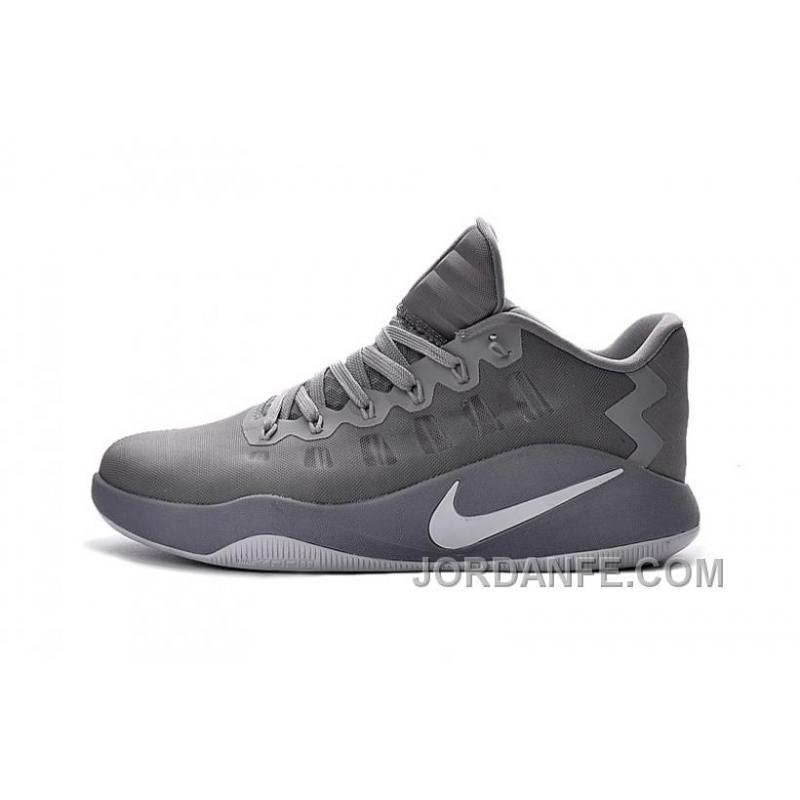... Nike Hyperdunk 2016 Low Grey White Authentic