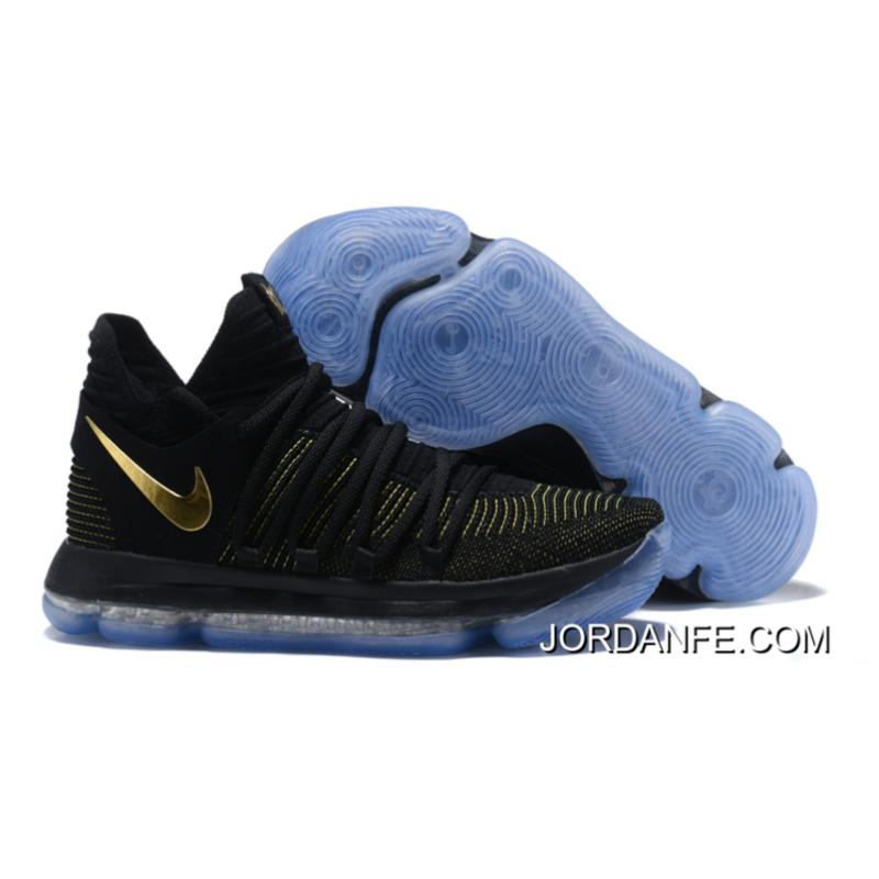 brand new f376a c822d Nike KD 10 Black Yellow Gold For Sale, Price: $94.28 - Air Jordan ...