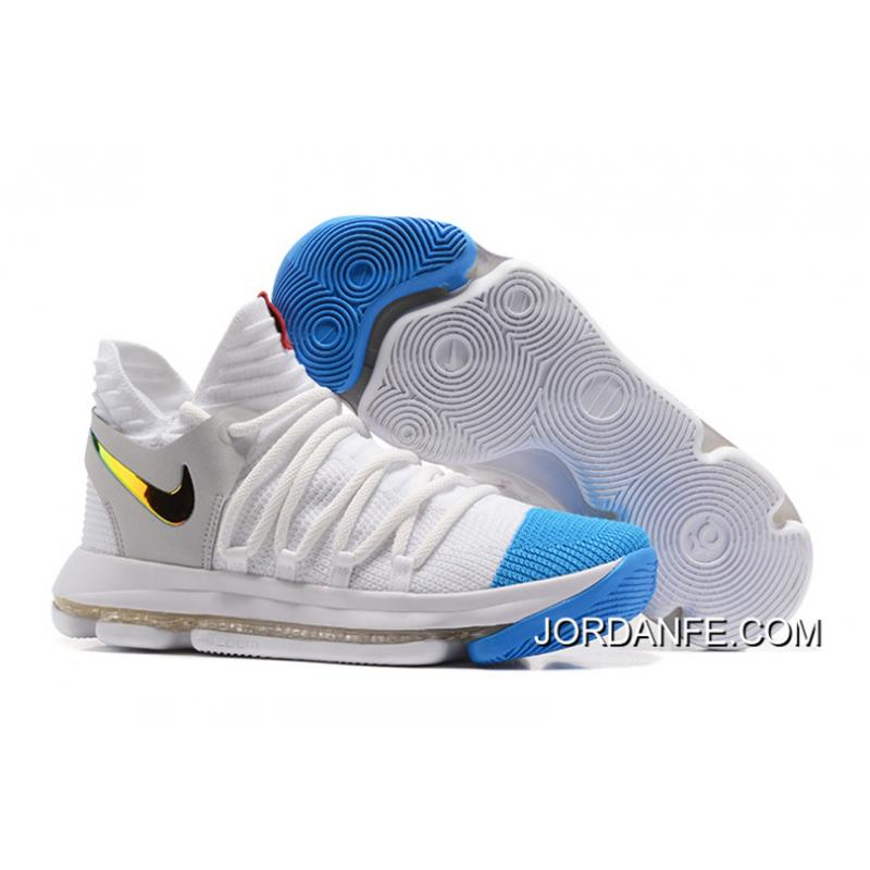 wholesale dealer 895fa 449b2 USD  93.55  290.00. Nike KD 10 White Blue Gold New Release ...