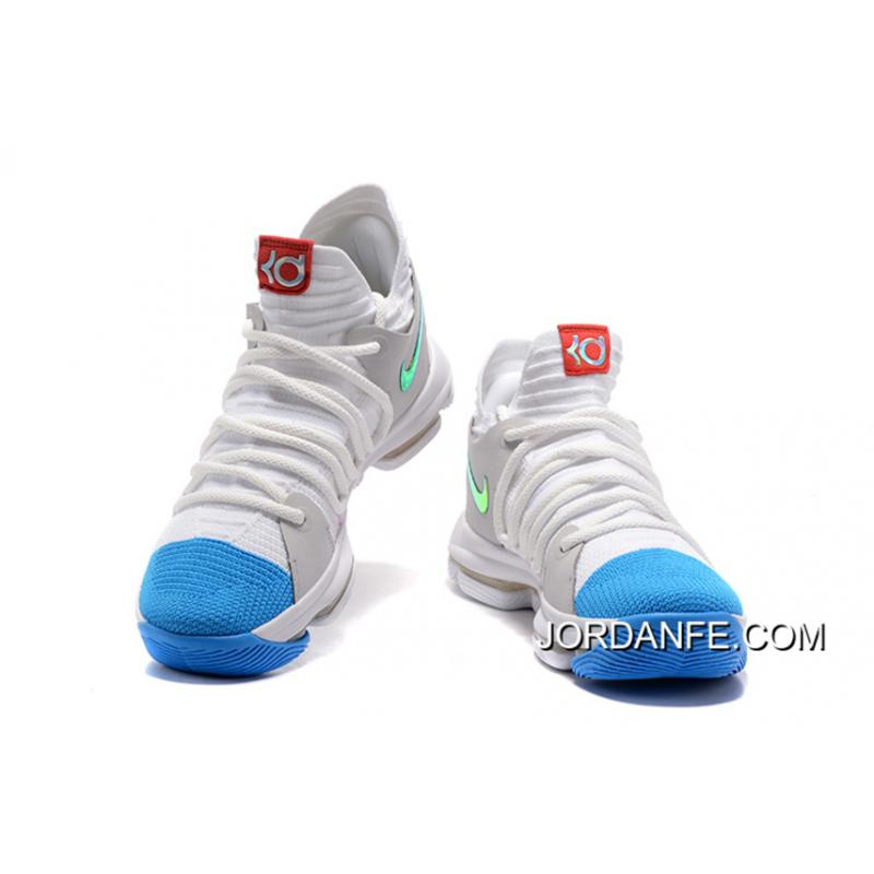 ... Nike KD 10 White Blue Gold New Release ...