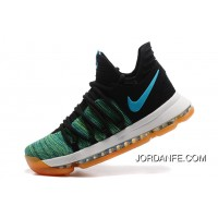 Cheap To Buy Nike KD 10 Green Black White Men Shoes Kevin Durant