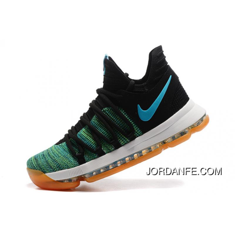 check out f296b db7fe USD  98.93  267.12. Cheap To Buy Nike KD 10 Green Black White Men Shoes Kevin  Durant ...