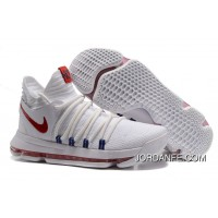 Nike KD 10 White Red Men Shoes Kevin Durant Lastest