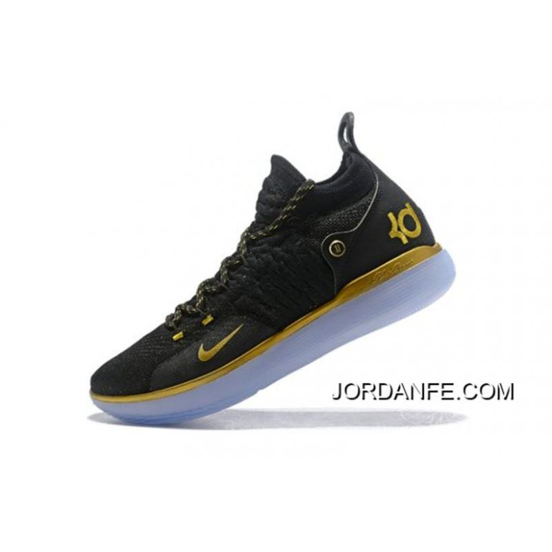 05b9b6ead16e USD  97.88  313.20. Nike KD 11 Black Gold Kevin Durant Basketball Shoes For  Sale ...