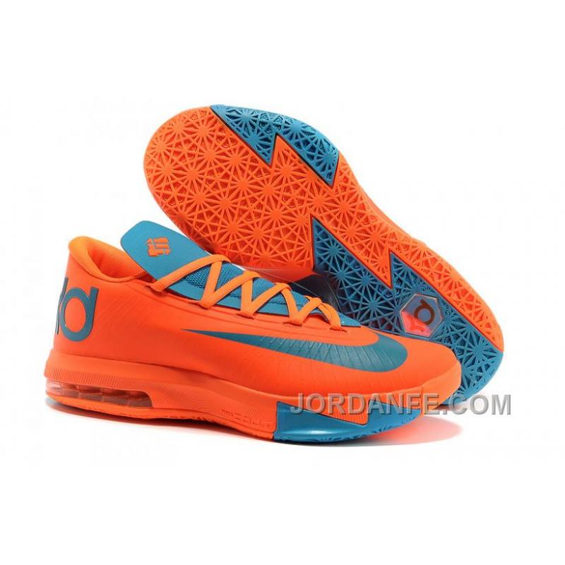 Nike Kevin Durant KD 6 VI Total Orange/Neo Turquoise For Sale New Release  ...