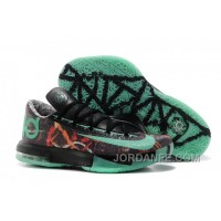 "Nike Kevin Durant KD 6 VI ""Illusion"" All-Star Multi-Color/Green Glow-Black For Sale Hot"