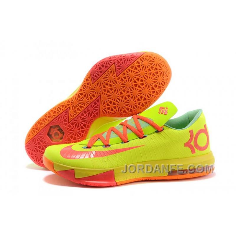 "5e96d46fdee1 Nike Kevin Durant KD 6 VI ""Drew League"" PE Yellow Pink Orange For ..."