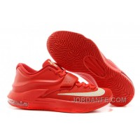 "Nike Kevin Durant KD 7 VII ""Global Game"" Action Red/Metallic Silver For Sale Discount"