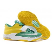 """Nike Kevin Durant KD 7 VII """"Draft Day"""" Apple Green/Yellow Strike-White For Sale Free Shipping"""