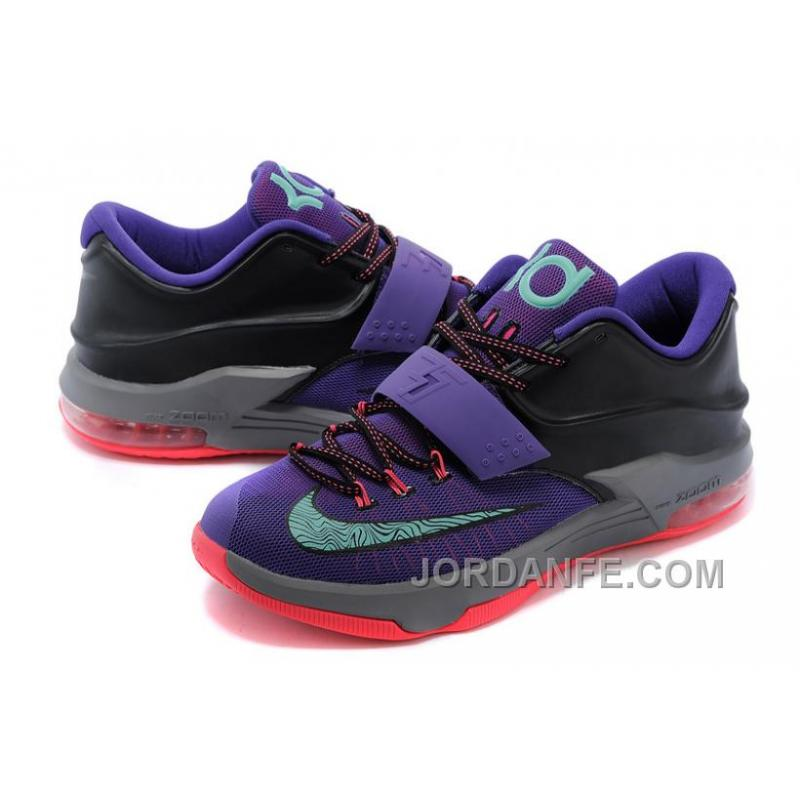 hot sale online 21cbc 33414 ... Nike KD 7 Shoes Purple Black Grapes New Release ...