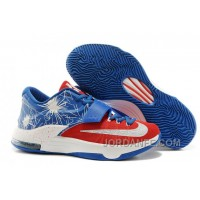 Nike KD 7 New Red Blue White Free Shipping