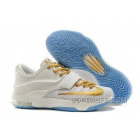 Nike KD 7 For Sale Custom White Gold Authentic