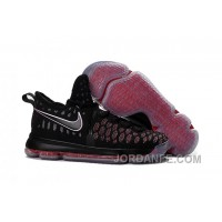 Nike KD 9 Grade School Black Red Hot