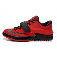 Mens Kids Nike KD 7 (VII) Action Red/Black Cheap New Release