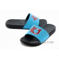 Nike KD Black Blue Red Slippers For Sale Top