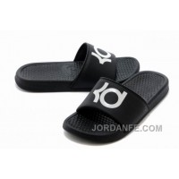 Nike KD Black White Slippers For Sale Discount