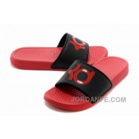Nike KD Red Black Slippers For Sale New Arrival